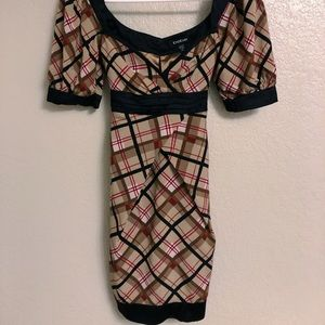 bebe Plaid Dress (XS)